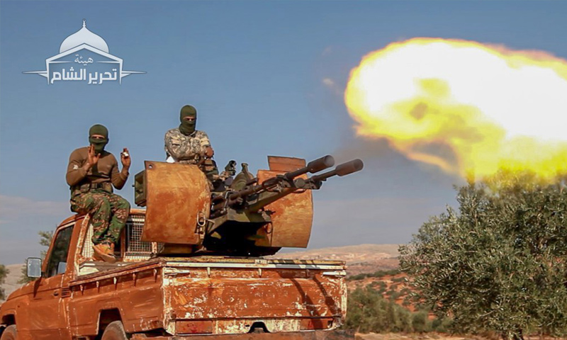 "Military maneuvers conducted by ""Tahrir al-Sham"" in rural Idlib – October 27, 2018 (Tahrir al-Sham)"