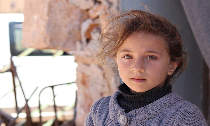 A Syrian girl in a school in the north of Aleppo who has been placed in an orphanage - November 16, 2018 (UNICEF)