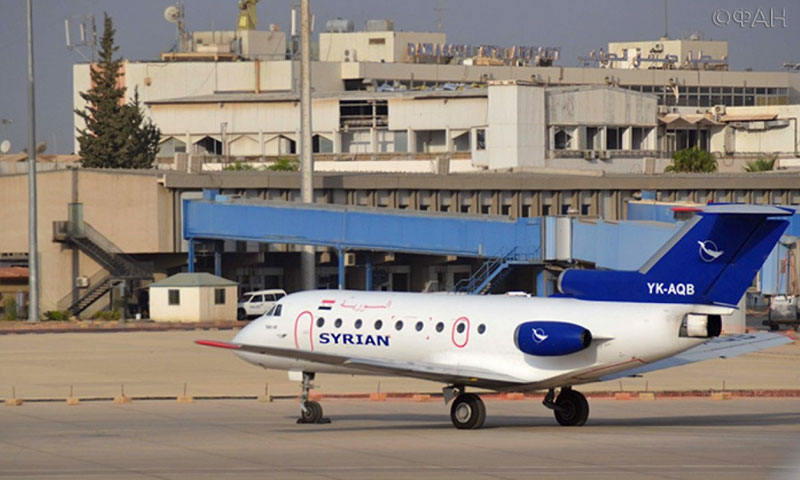 A Syrian airplane leaving Damascus International Airport for Tunisia – January 3, 2019 (Russian FAN Agency)