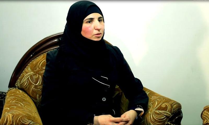Freed detainee Rasha Sharbaji (YouTube)