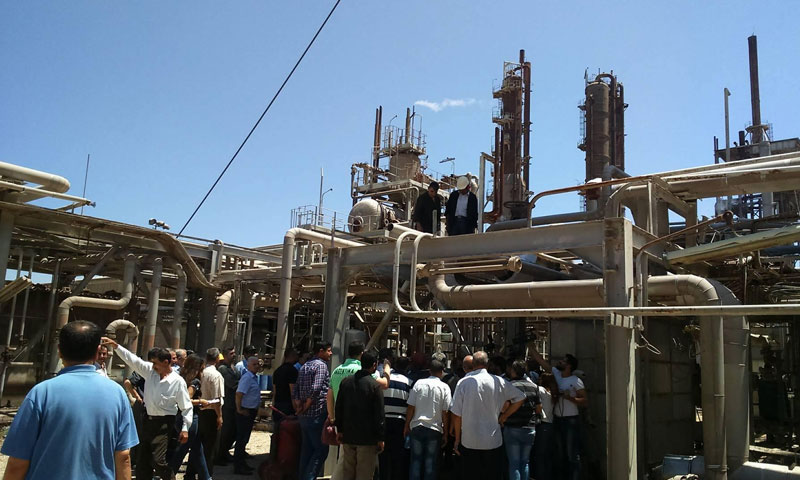 Ammonia Urea Plant of the General Fertilizers Company in Homs - July 2017 (SANA)