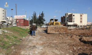 The construction of a station for the two major clauses of voyage within Idlib city, near the Administrative Sciences College – December 24, 2018 (Idlib City's Council)