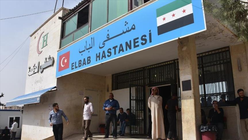 Al-Bab's National Hospital in al-Bab city, the northern countryside of Aleppo- October 13, 2018 (Anadolu Agency)