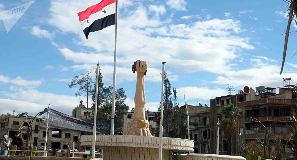 Duma City Square in the Eastern Ghouta, December 29, 2018 (Sputnik)