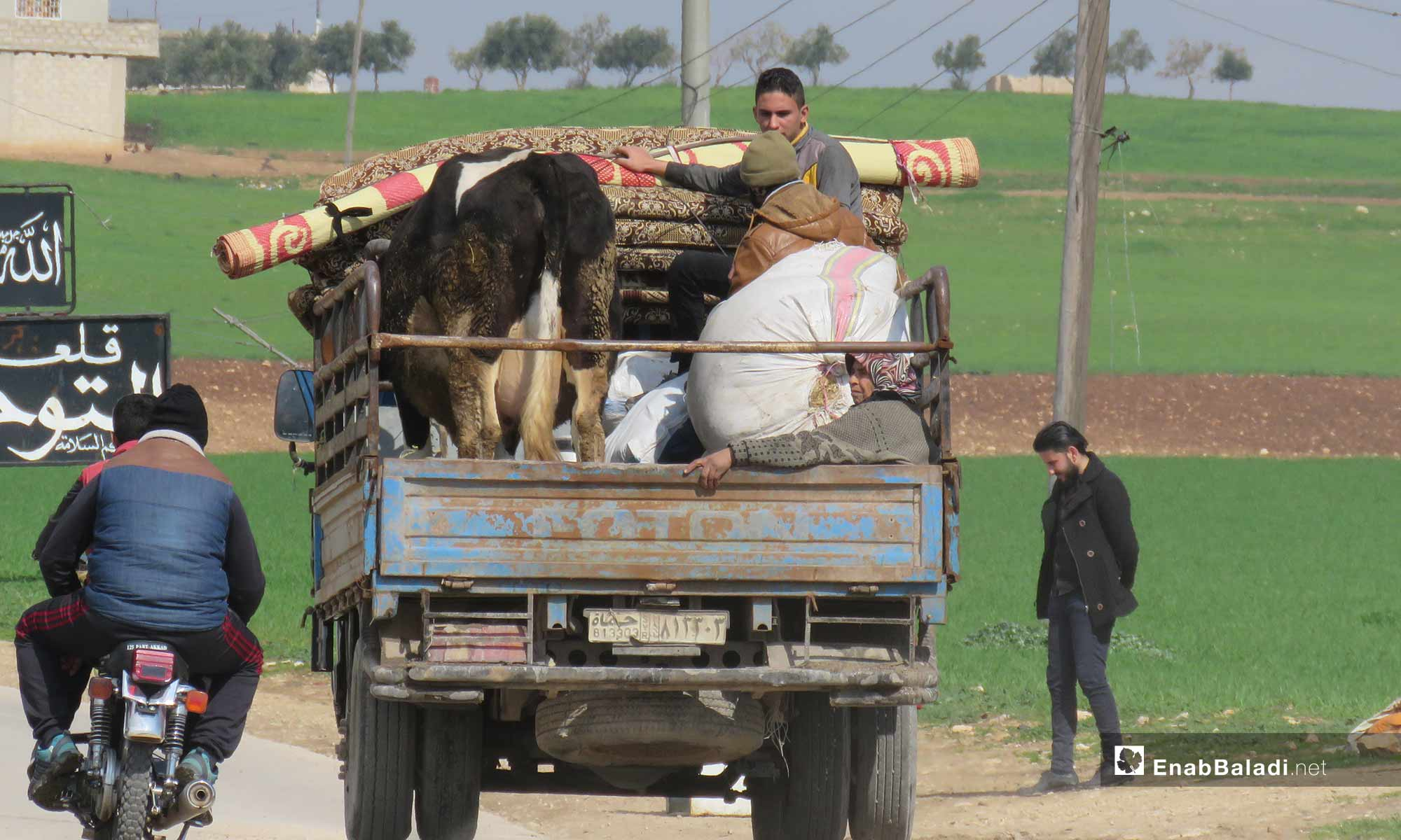Qalaat al-Madiq's people are yet being displaced due to constant shelling in rural Hama – February 18, 2019 (Enab Baladi)