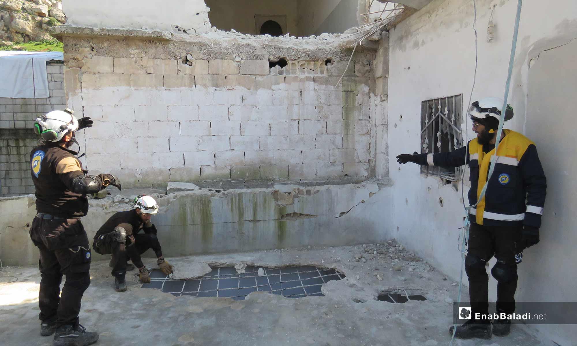 The destruction caused by the shelling of Qalaat al-Madiq, rural Hama - February 18, 2019 (Enab Baladi)