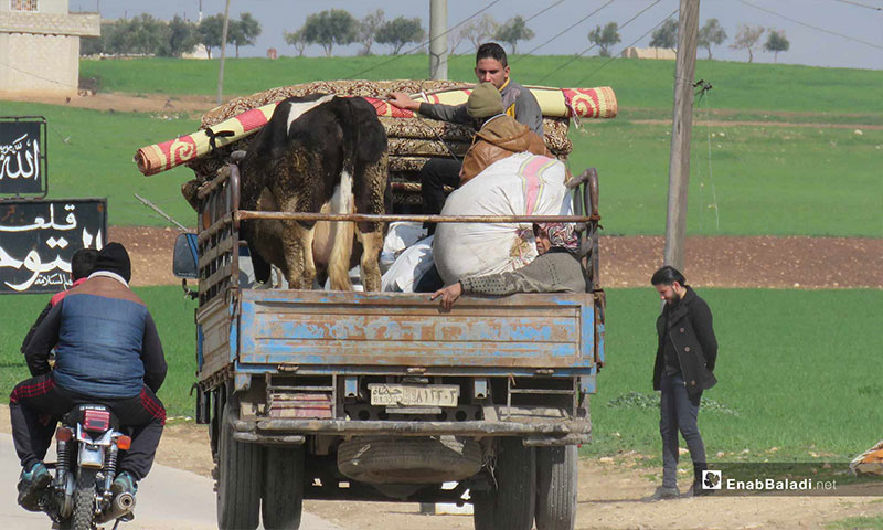 Ongoing displacement of the Qalaat al-Madiq city's people due to shelling in rural Hama – February 18, 2019 (Enab Baladi)