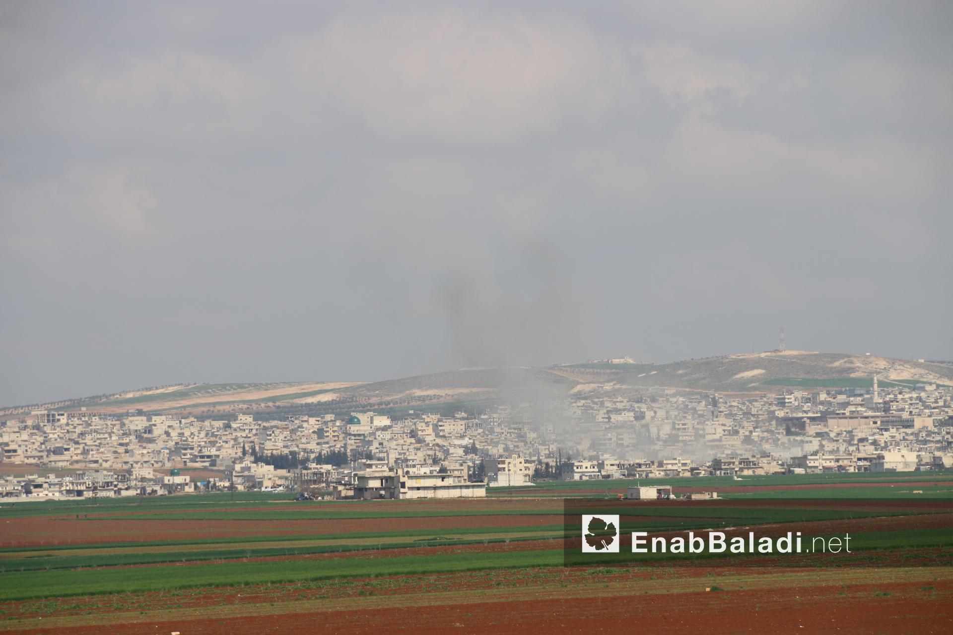 Missile shelling of the city of Khan Shaykhun, southern rural Idlib – February 24, 2019 (Enab Baladi)