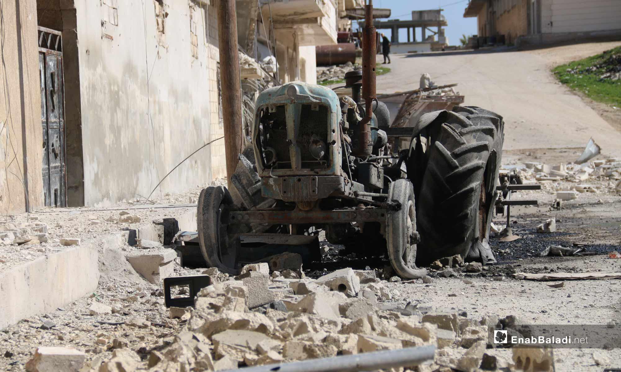 Destruction that Befell the City of Khan Shaykhun due to Shelling, Idlib – February 18, 2019 (Enab Baladi)