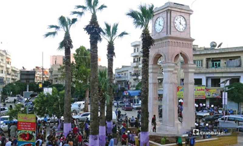 Clock Square in Idlib – January, 2017 (Enab Baladi)
