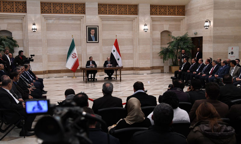 Iranian First Vice President, Eshaq Jahangiri, and Prime Minister of the Syrian regime's government Imad Khamis, January 29, 2019 (SANA)