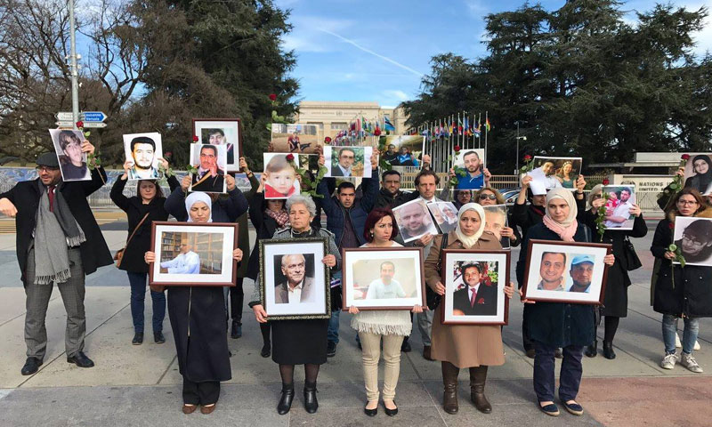 """A silent stand in respect for """"Families for Freedom"""" 2017 - (Detainees' Voice Facebook page)"""