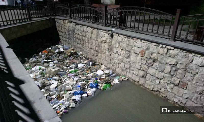 Barada river in the Bab Touma area, Damascus – February 12, 2019 (Enab Baladi)