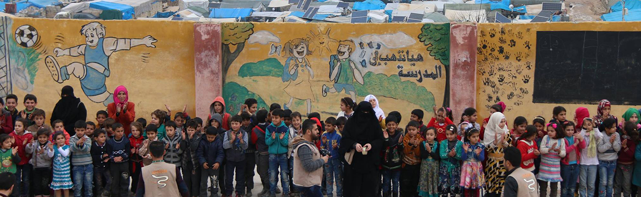 School ceremony in the town of Qah, north of Idlib, February 20, 2019 (UOSSM)