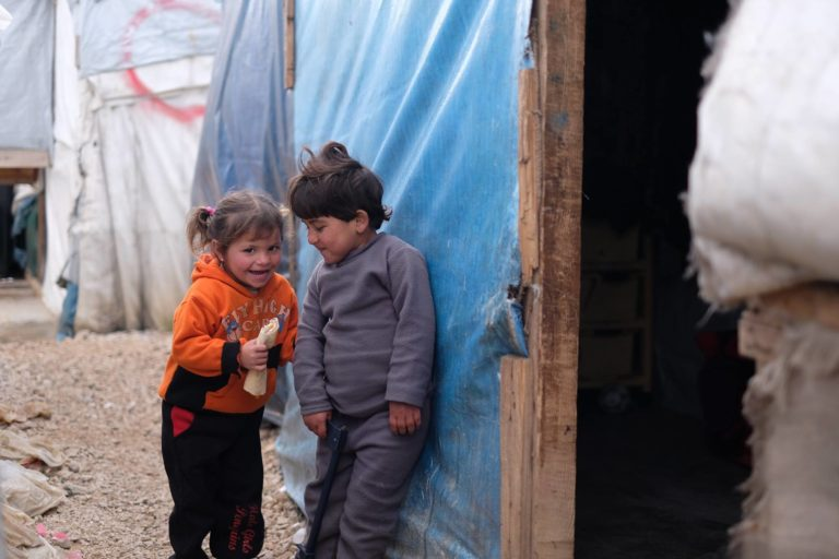 Two Syrian children in camps in Lebanon - 2017 (SAMS)