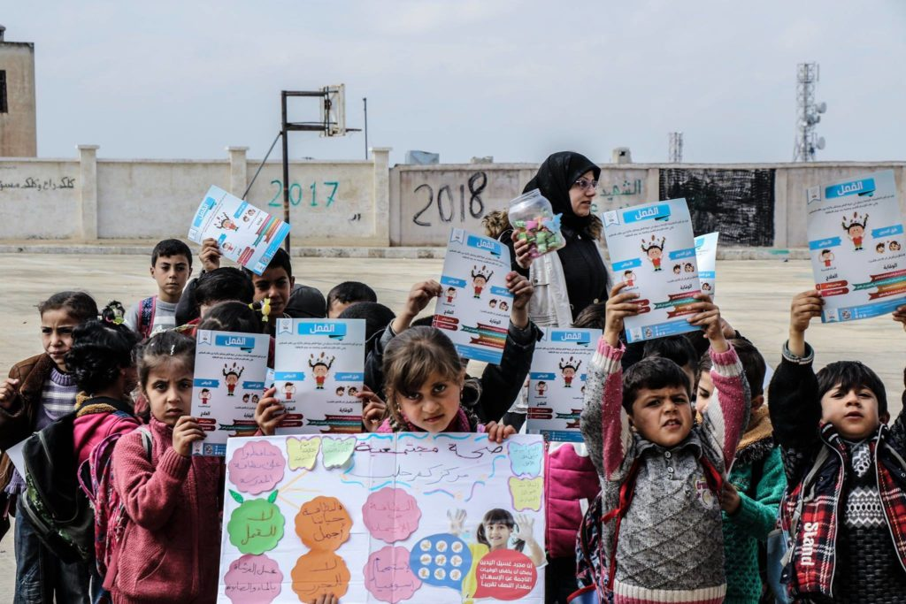 Health awareness campaign for personal hygiene in the schools of the west countryside of Aleppo – March 4, 2019 (Independent Doctors Association, Facebook)