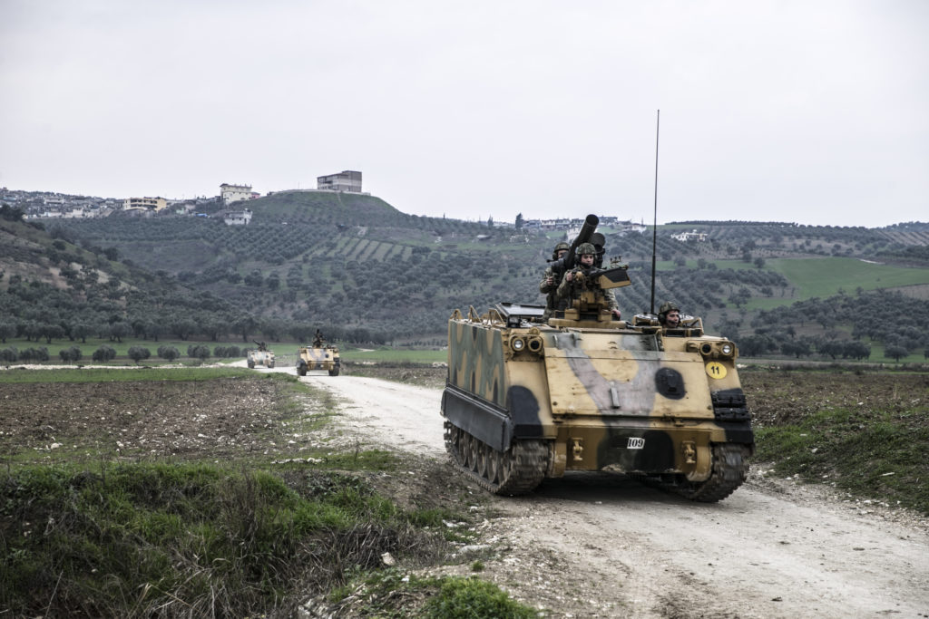 Turkish forces on the Syrian border - 13 January 2019 (Anadolu Agency)