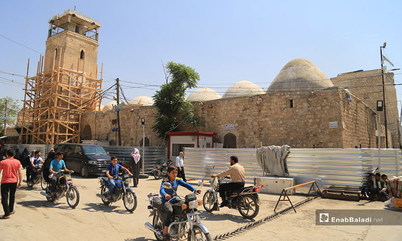 The renovation of the Grand Mosque in the city of al-Bab, rural Aleppo – March 1, 2019 (Enab Baladi)