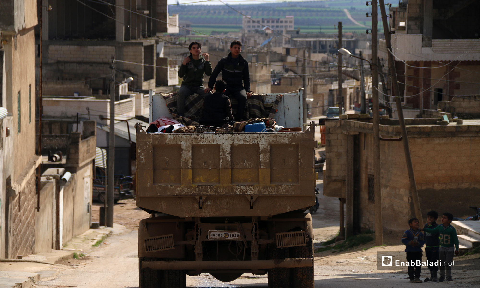The displacement of the residents of the city of Shaykhun city, Idlib – March 3, 2019 (Enab Baladi)