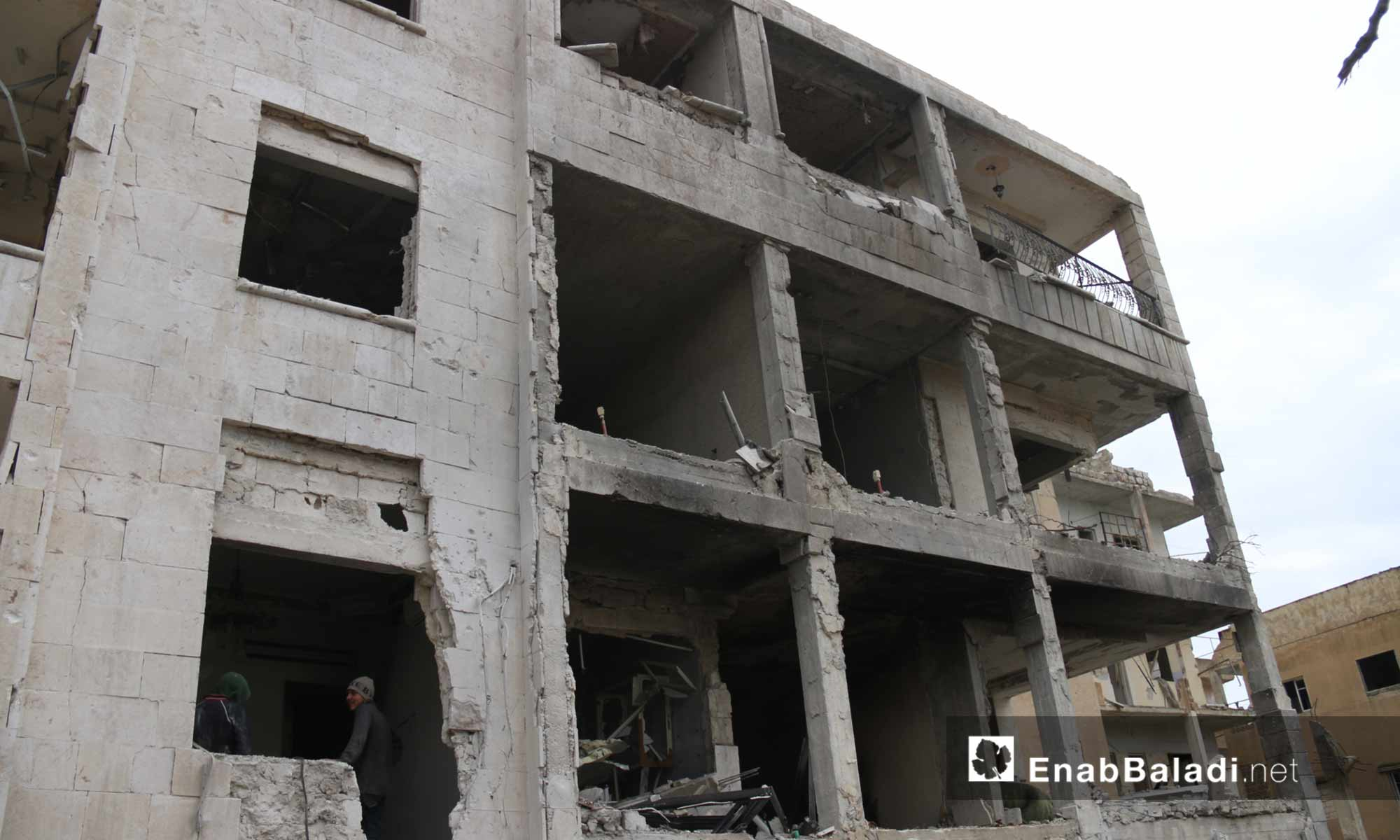 The effects of the Russian shelling of residential neighborhoods in the center of Idlib city – March 14, 2019 (Enab Baladi)