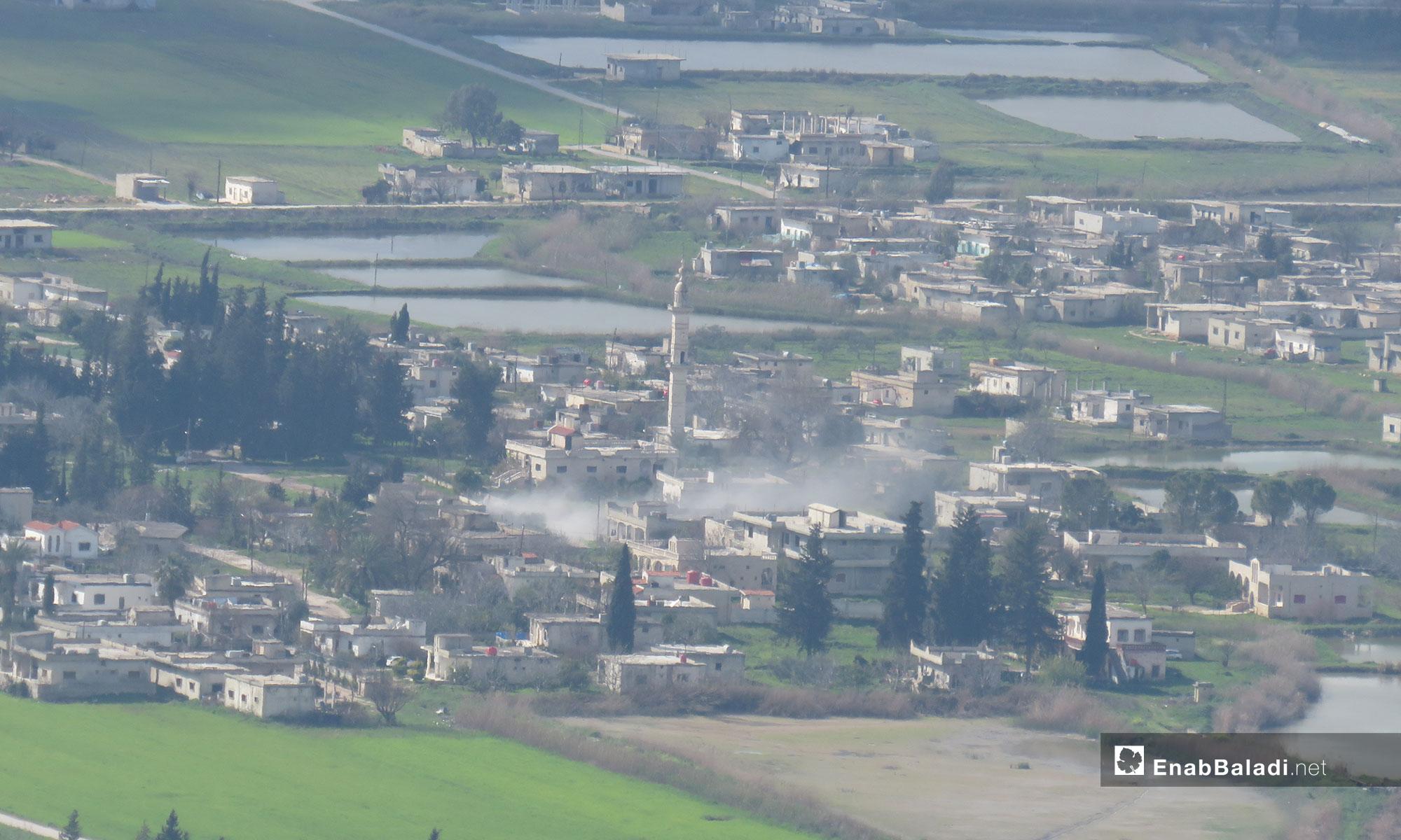 The shelling of the village of al-Huwayz, rural Hama – March 18, 2019 (Enab Baladi)
