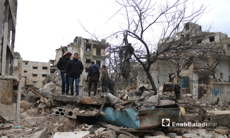The destruction that befell the city of Idlib due to the Russian shelling – March 14, 2019 (Enab Baladi)