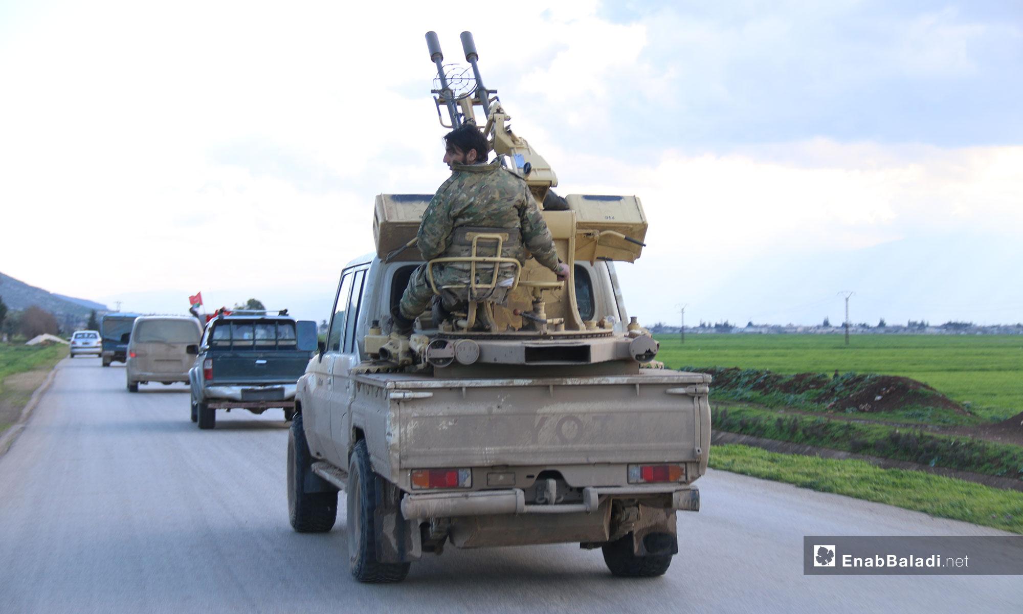 Turkish Army Patrol enters the demilitarized zone in rural Hama – March 18, 2019 (Enab Baladi)