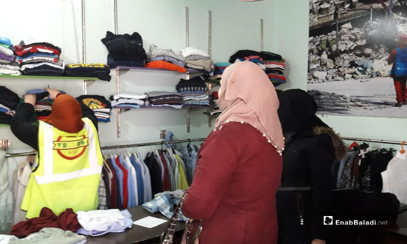 Charity shop offers clothes to persons with disabilities due to war injuries in the city of Idlib – March 9, 2019 (Enab Baladi)