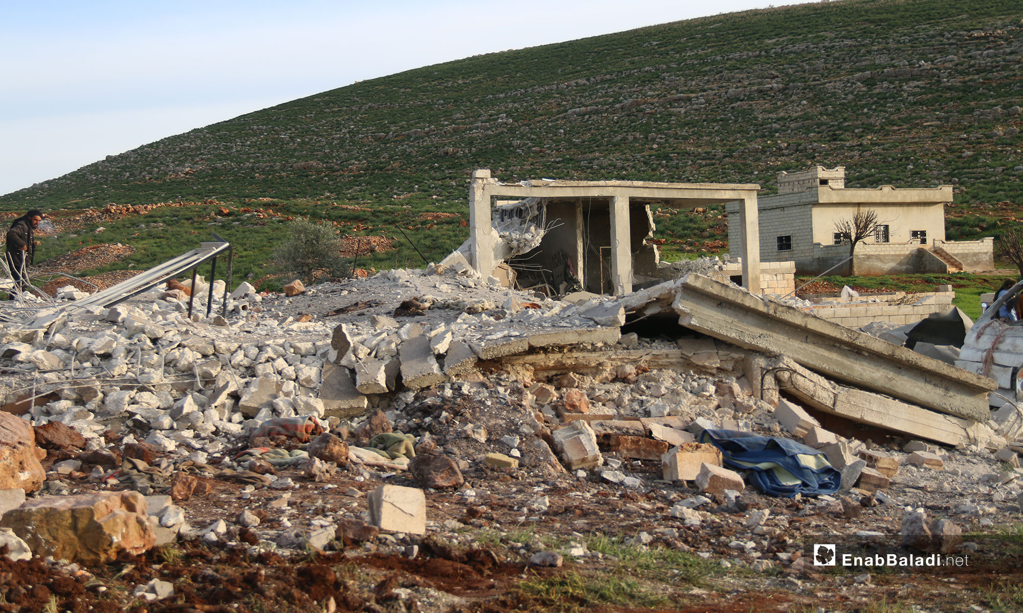 The destruction caused by the shelling in the town of Faqie, southern Idlib - March 21, 2019 (Enab Baladi)