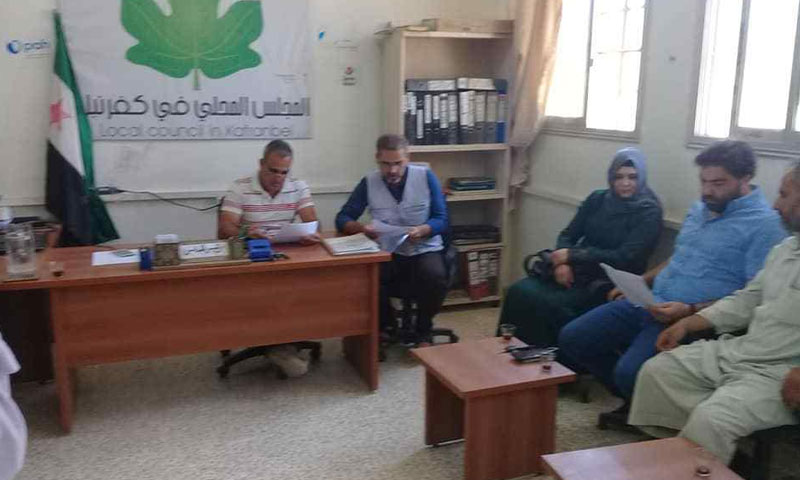 Kafr Nabl local council – August 18, 2018 (The Local Council's Facebook Page)