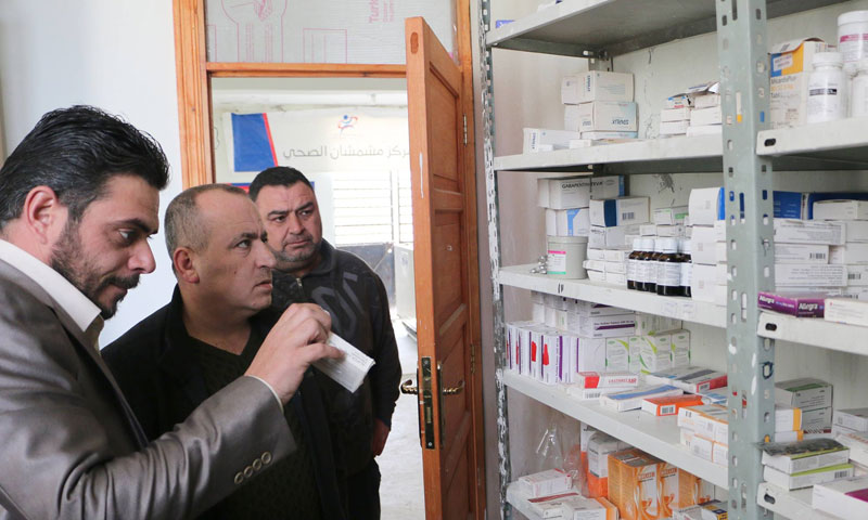 Tour of inspection conducted by the IdlibHealth Directorate in Mishmishan Health Centre in Idlib province- 27 January (Idlib Health Directorate)
