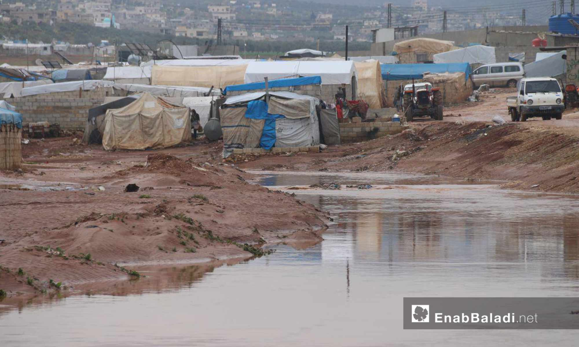 Deluges caused by the massive rains drown the camps of internally displaced people in northern Idlib – March 31, 2019 (Enab Baladi)