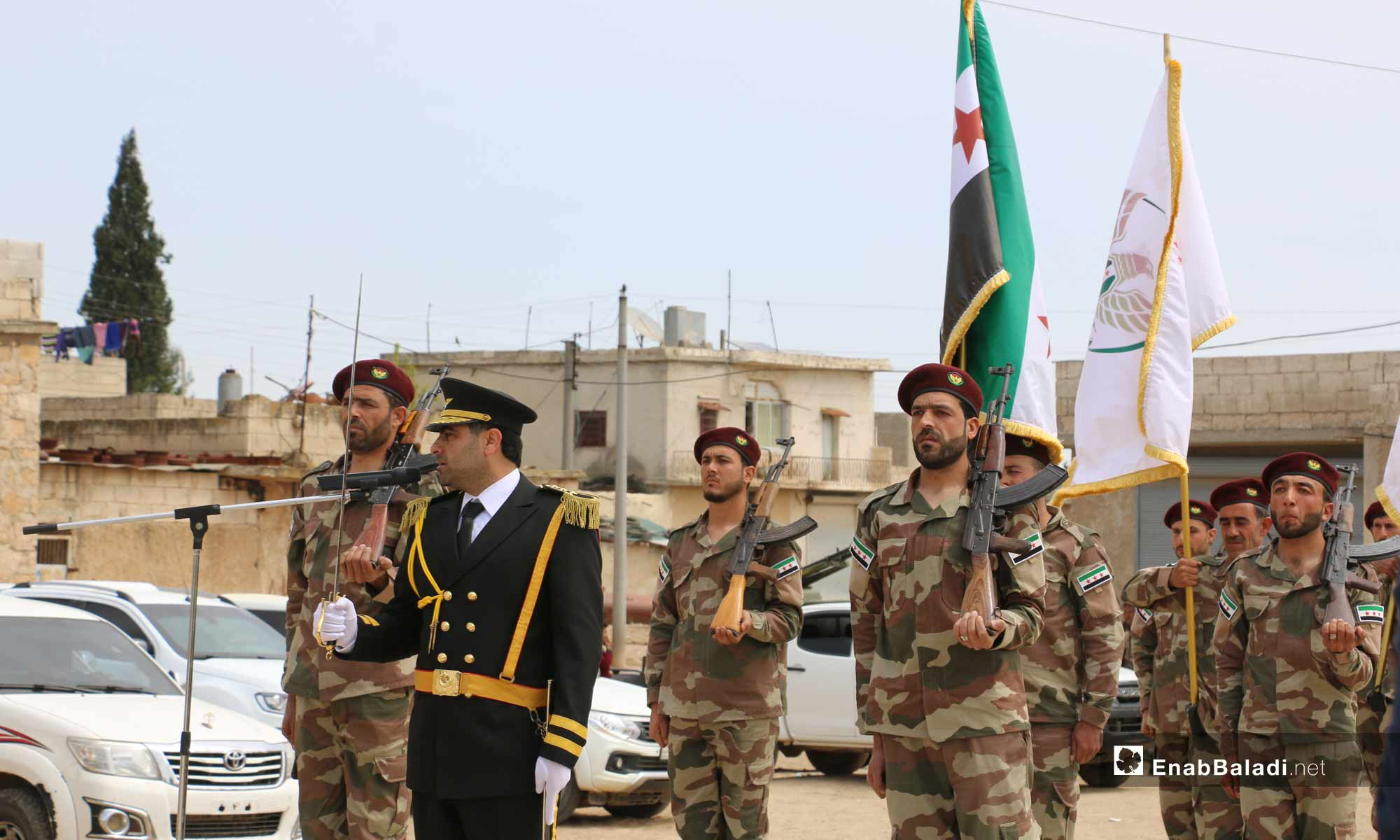 The celebration of opening the first office of the National Coalition for Syrian Revolutionary and Opposition Forces in rural Aleppo – April 24, 2019 (Enab Baladi)