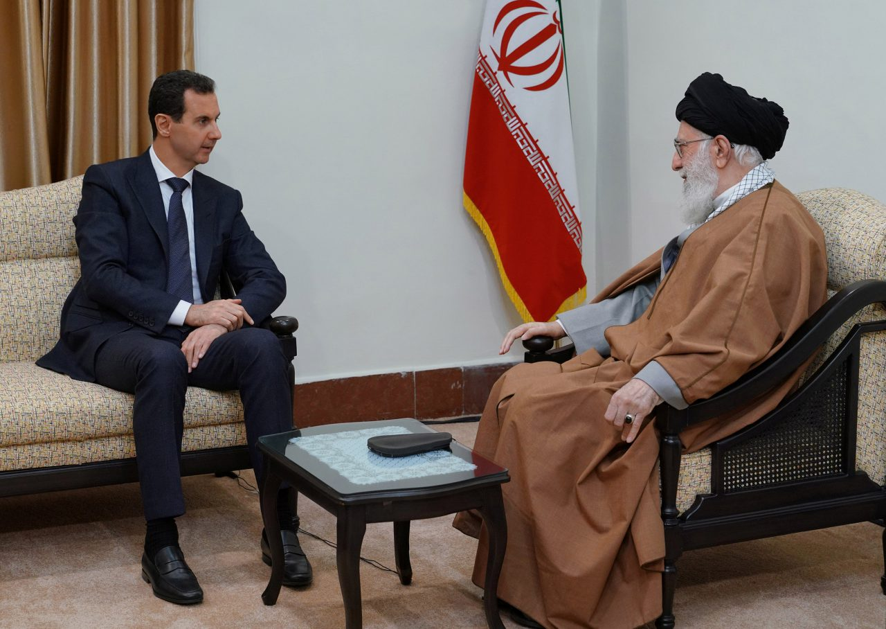 Syrian President Bashar al-Assad with Iran's Supreme Leader in Tehran February, 2019 (SANA)