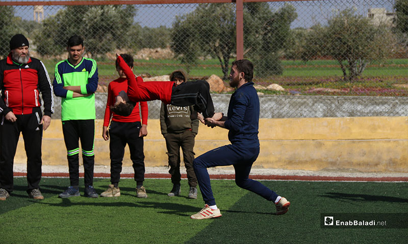 Olympics of Hope for people with special needs in the town of al-Abezmo in Aleppo countryside - March 11, 2019 (Enab Baladi)
