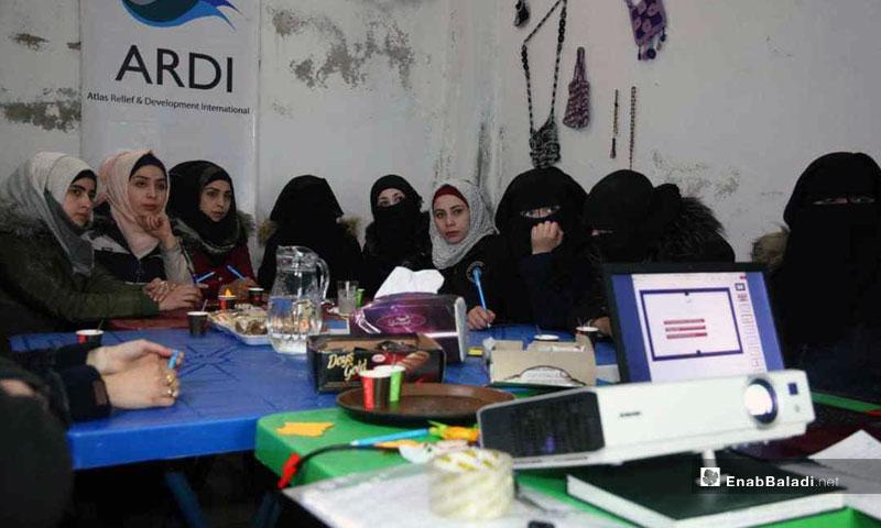 From the Release Me workshops for female survivors of violence - April 2019 (Enab Baladi)