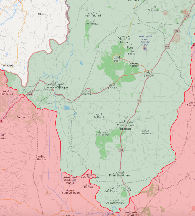 Map of territorial control in the northern Hama countryside - 10 May 2019 (livemap)