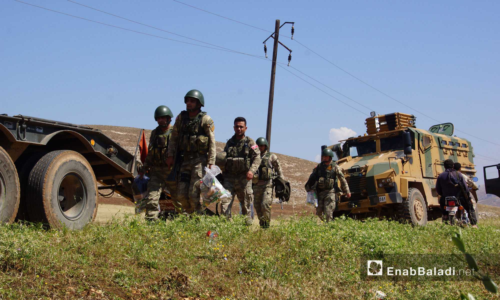 Turkish troops stationed in the village of Sher al-Maghar in Jabal Shashabo, West Hama, May 14, 2018 (Enab Baladi)