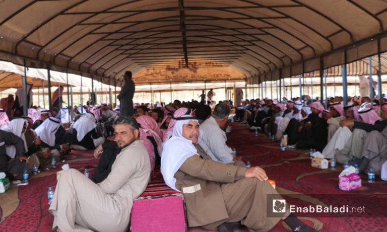 Meeting of Syrian clans in Ayn Issa, Raqqa countryside - May 3, 2019 (Enab Baladi)