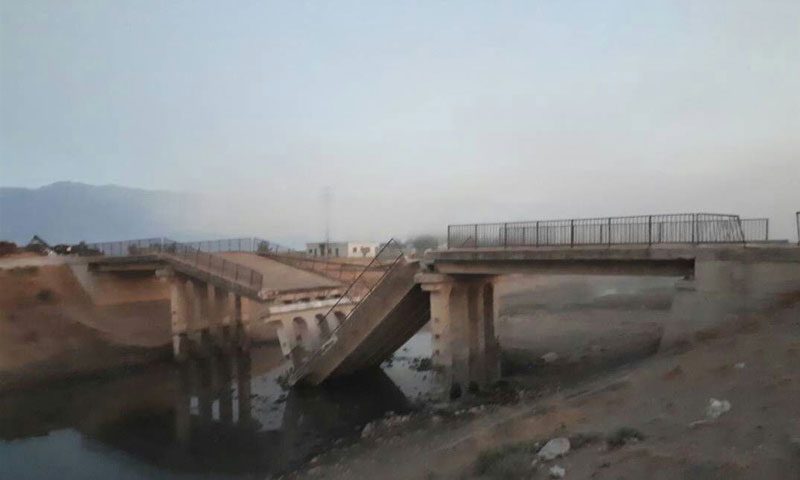 Shariah Bridge after being demolished by opposition factions in the countryside of Hama - 31 August 2018 (Sourced from Facebook)