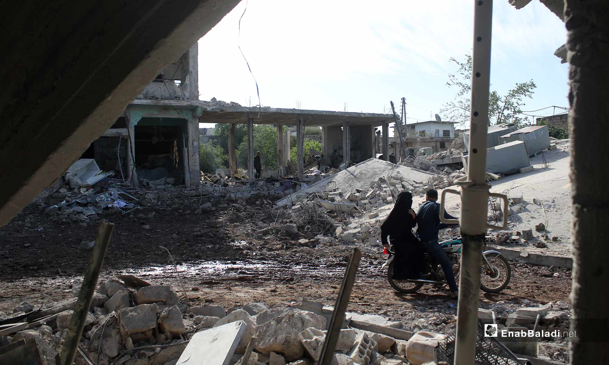 The destruction caused by the shelling of the village of Abadeta, rural Idlib – May 3, 2019 (Enab Baladi)