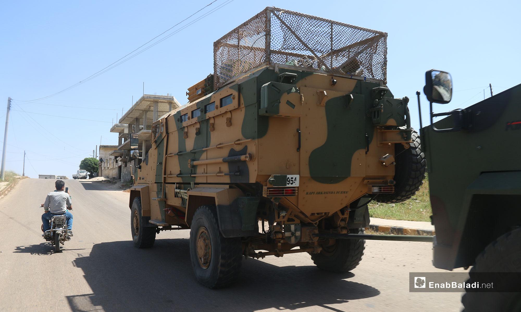 Turkish military convoy enters rural Idlib, heading towards al-Ghab Plain in rural Hama – May 17, 2019 (Enab Baladi)
