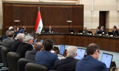 President of the Syrian regime meets with members of the government - 14 May 2019 (Presidency of the Syrian Republic)