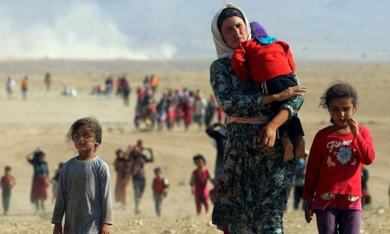 Expulsion of Yazidis from their areas in Syria at the hands of the Islamic State - 2017 (Reuters)