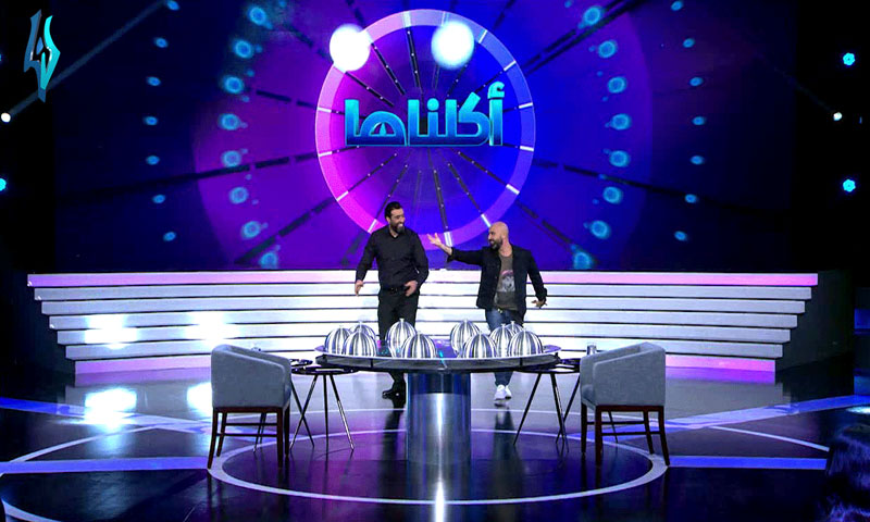 """""""Aklnaha"""" is a program presented by the Syrian actor Bassem Yakhour (LANA TV's page on Facebook)"""
