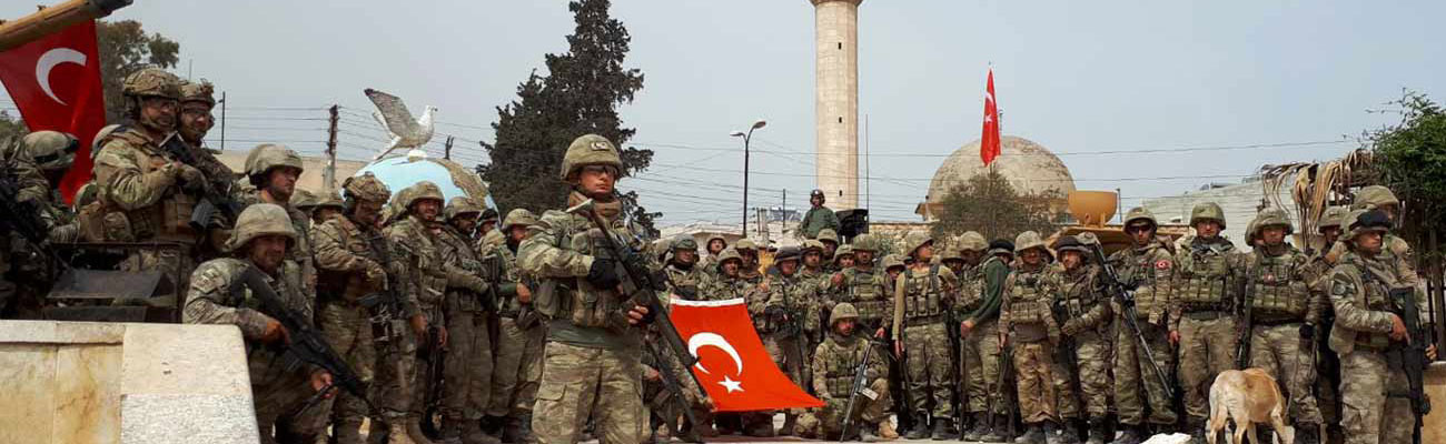 Turkish army soldiers in the middle of Afrin after taking control of the city- March 2018 (Anadolu)
