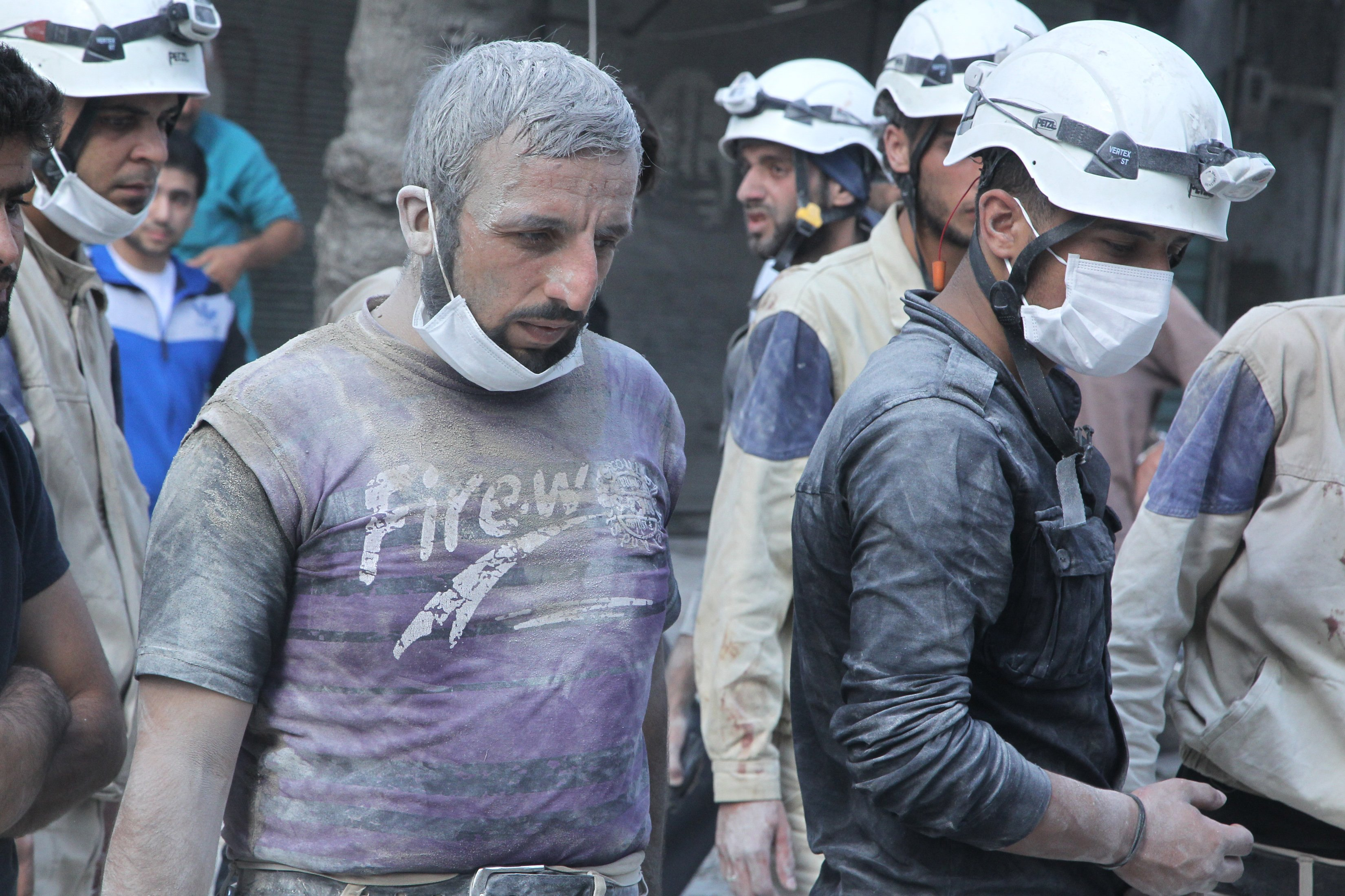 Elements of Syria Civil Defense in Syria (Reuters)