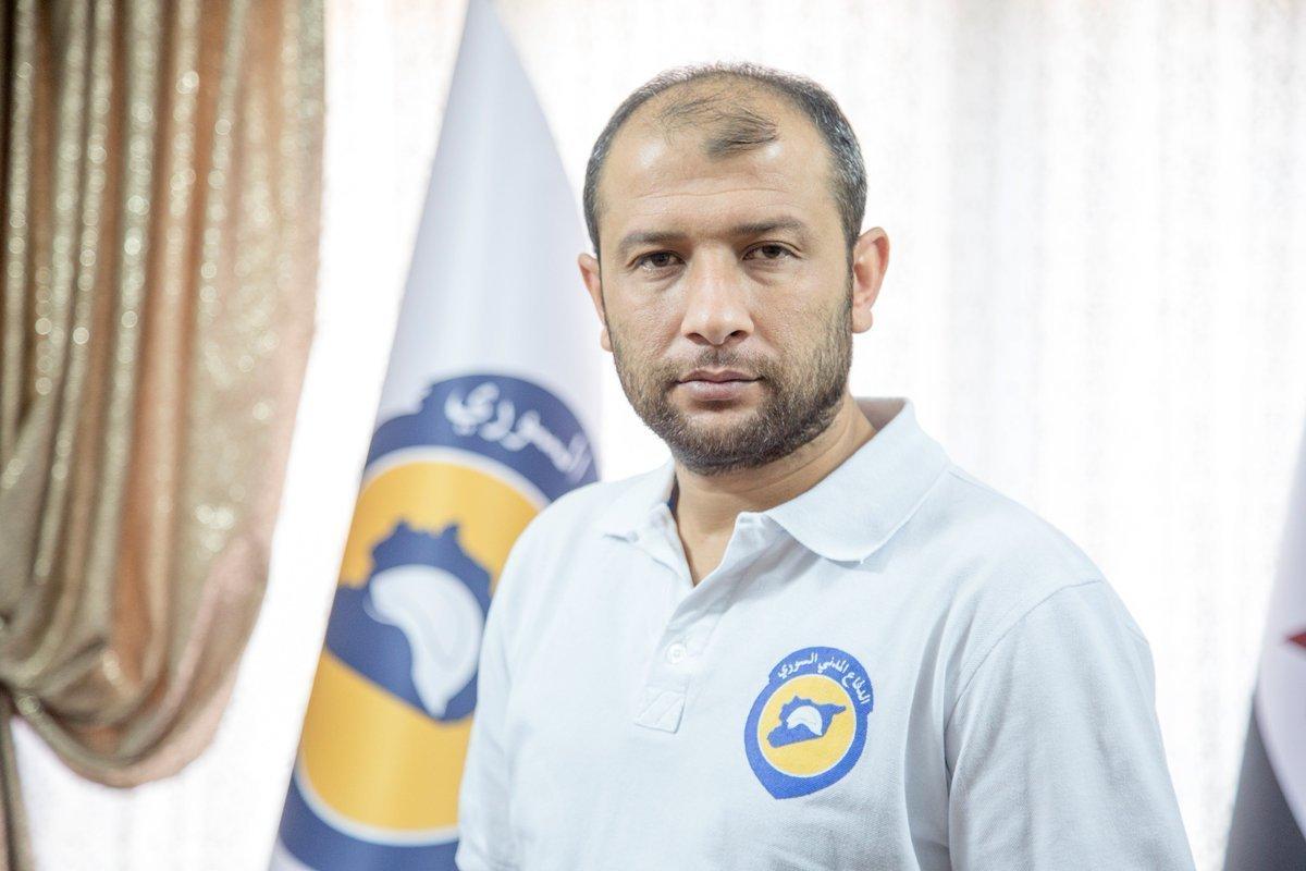 Raed al-Saleh, Volunteer in the Syrian Civil Defense 2018 (Civil Defense Facebook page)