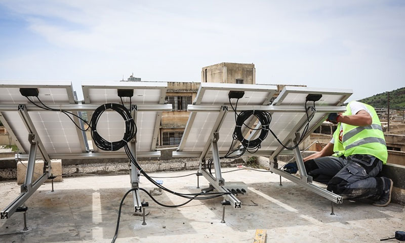 A project to power lighting in 15 medical facilities using solar energy in northern Syria - 1 June 2019 (Violet Syria)