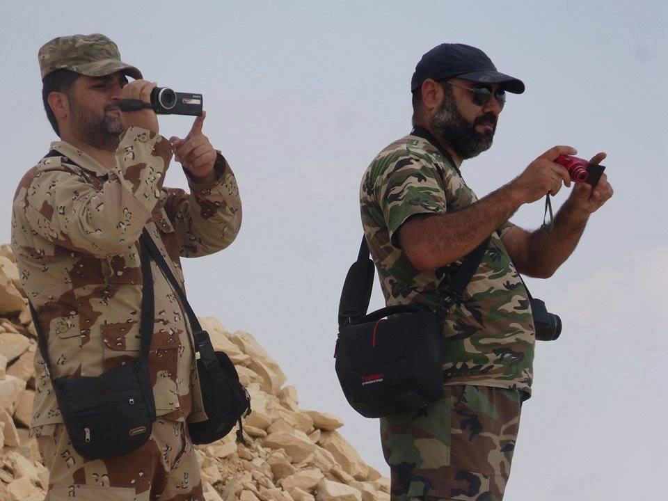 War correspondent Raeif al-Salameh on the front of al-Qaryatayn in the countryside of Homs - 2017 (Raeif al-Salameh)